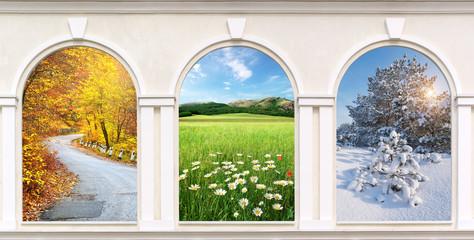 Windows of seasons