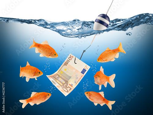 Leinwandbild Motiv fisch euro teaser concept