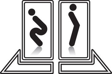 funny restroom wc sign