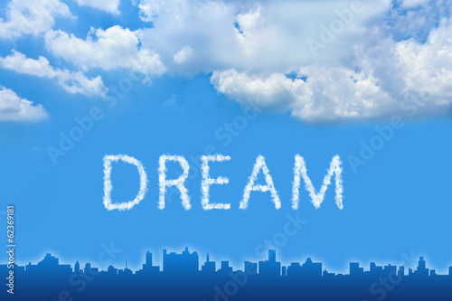 Dream text on cloud