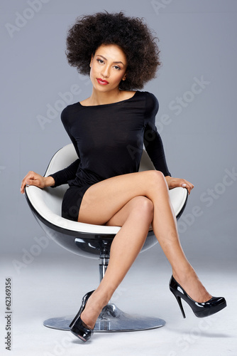 Elegant beautiful African American woman