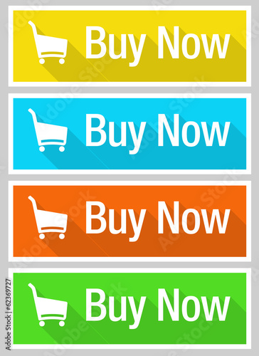 Buy now flat design
