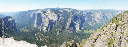 Panorama from Taft point lookout, Yosemite, California