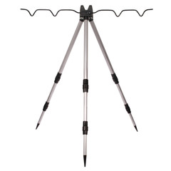 Fishing rod system tripod (Clipping path)