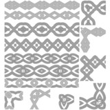 Set of seamless line (borders). Patterns frames.