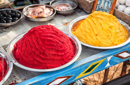 Indian colorful powders