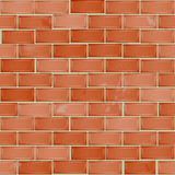 Red brick wall tile, seamless pattern with bricks