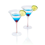 Blue Martini curacao drink over white background