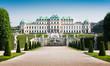 Leinwandbild Motiv Famous Schloss Belvedere in Vienna, Austria