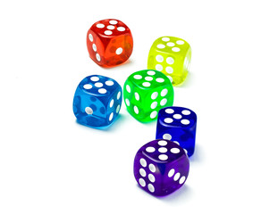 color dice number five