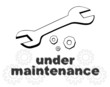 Down for maintenance website page message