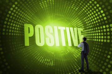 Positive against green pixel spiral
