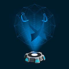 Hologramm Icon Säbel