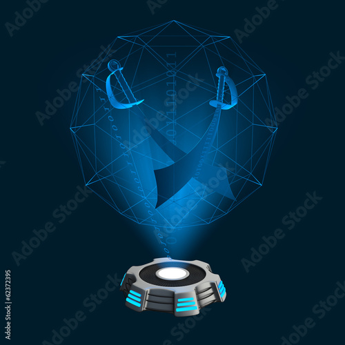Hologramm Icon Säbel