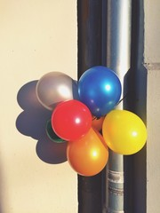 balloons in the street