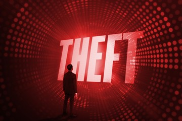 Theft against red pixel spiral
