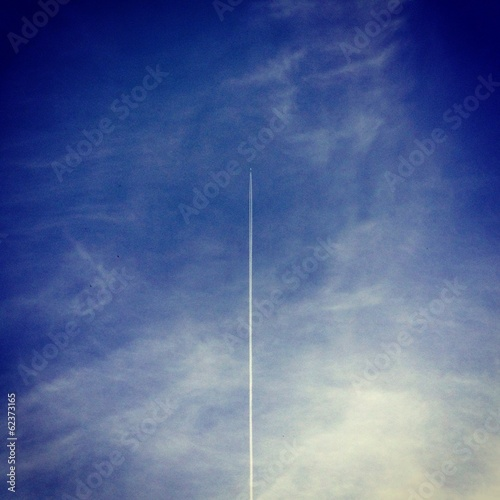 canvas print picture Airplane in the sky
