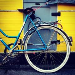 bicycle and camping car