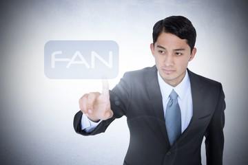 Fan against white wall