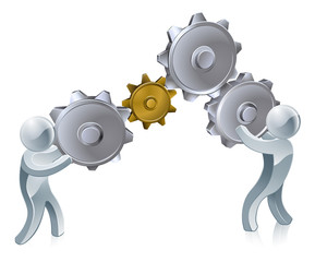 People working cogs