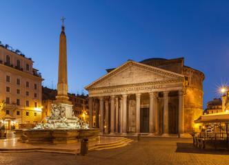 Pantheon at sunrise. Rome. Italy. Piazza della rotonda.