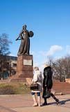 monument mother motherland in kaliningrad