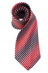 red and blue necktie