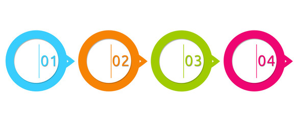 Design with circles for web, marketing or presentations
