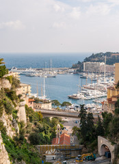 View of sea port in Monaco