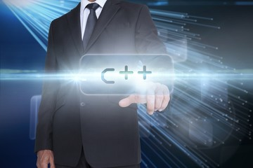 C   against abstract technology background