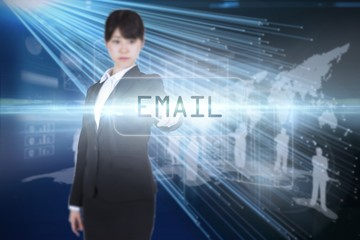 Email against abstract technology background