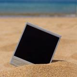 instant photo on a beach