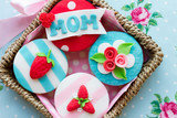 Fototapety Mother's day cupcakes