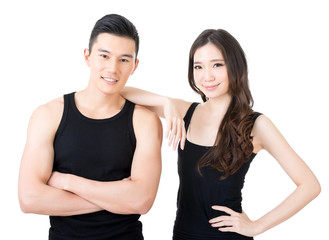 Young Asian sport couple