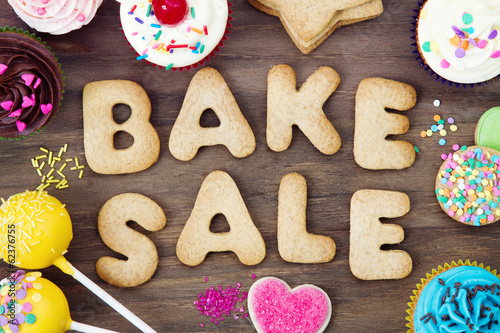 Keuken foto achterwand Koekjes Bake sale cookies