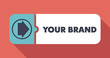 Your Brand Concept in Flat Design.
