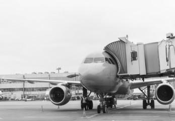 Plane before departure