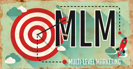 MLM Concept. Poster in Flat Design.
