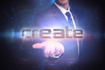 Create against futuristic black background