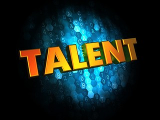 Talent Concept on Digital Background.