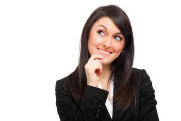 Businesswoman having an idea