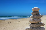 zen balance stone on the beach 5