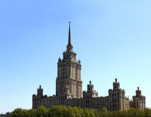 Moscow skyscraper of the Soviet period