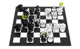 Euro dollar chess game black-white