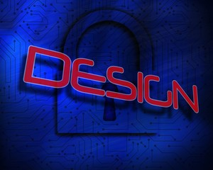 Design against lock on digital background