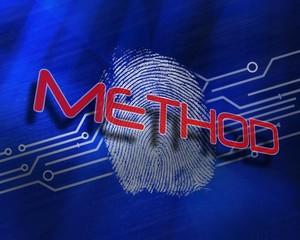 Method against fingerprint on digital blue background