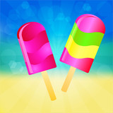 Ice cream lollies background