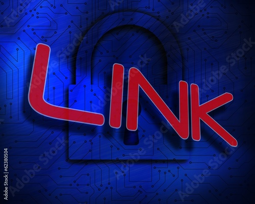 Link against lock on digital background