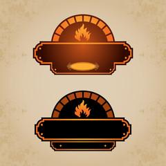 Firewood oven set 4