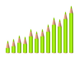 vector increasing chart